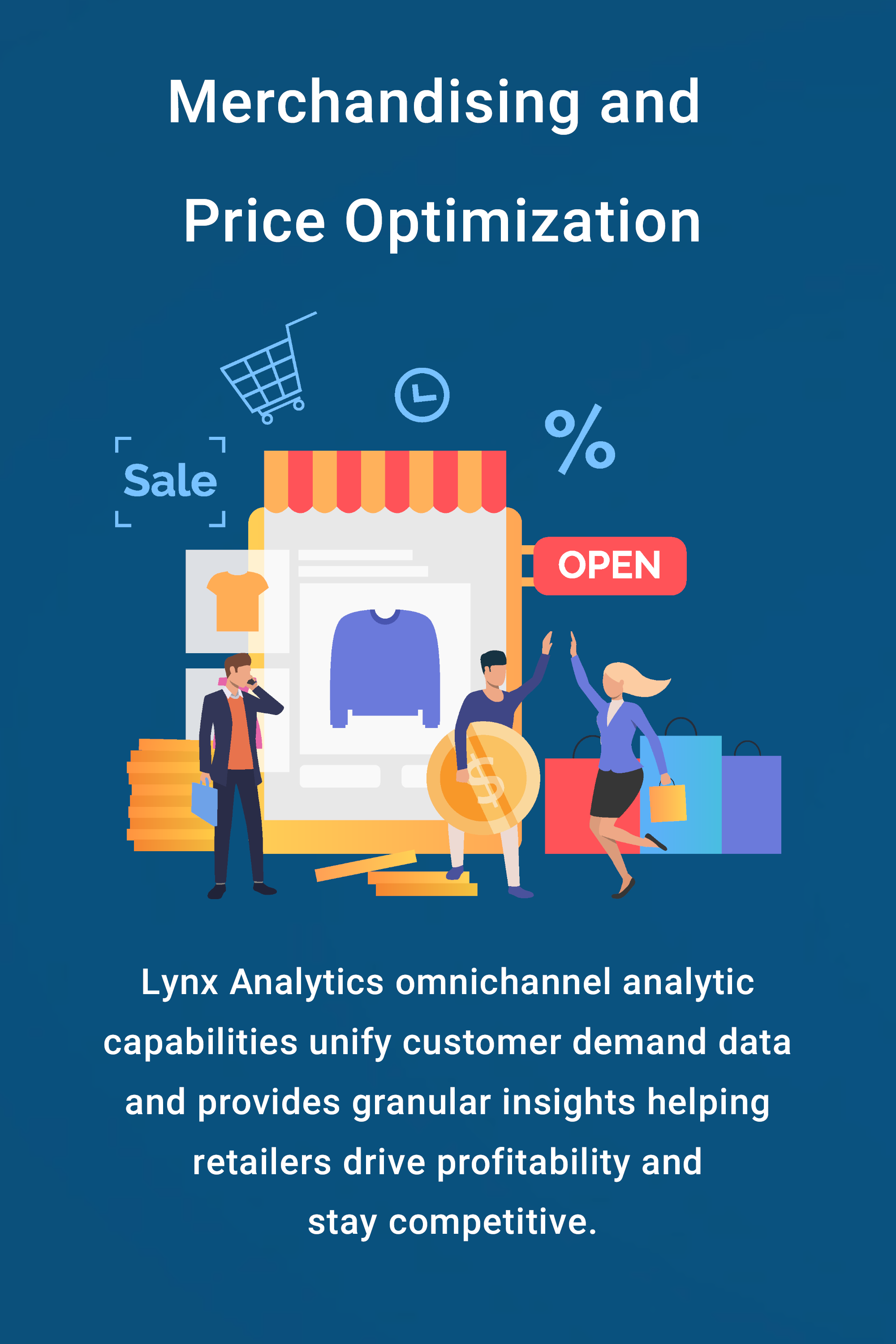 Lynx Analytics omnichannel analytic capabilities unify customer  demand data and provides granular insights helping retailers drive  profitability and stay competitive_mobile